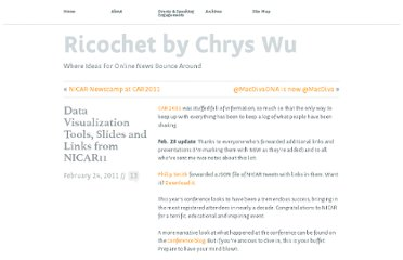 http://www.chryswu.com/blog/2011/02/24/data-visualization-tools-slides-links-nicar11/