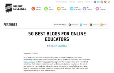 http://www.onlinecolleges.net/2011/09/14/50-best-blogs-for-online-educators/