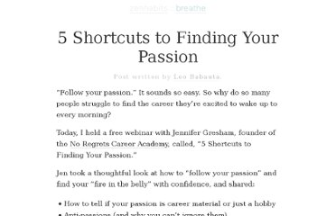 http://zenhabits.net/passion-webinar/