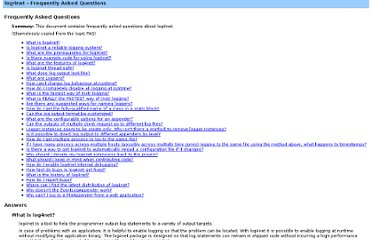 http://log4net.sourceforge.net/release/1.2.0.30316/doc/manual/faq.html#thread-safety