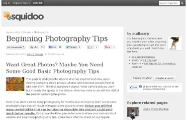 http://www.squidoo.com/beginning_photography_tips