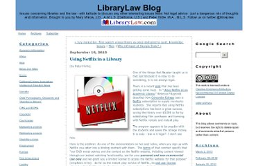 http://blog.librarylaw.com/librarylaw/2010/09/using-netflix-in-a-library.html