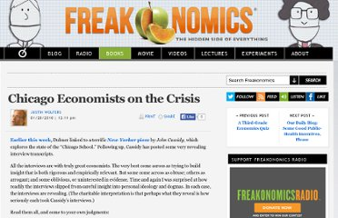 http://www.freakonomics.com/2010/01/20/chicago-economists-on-the-crisis/