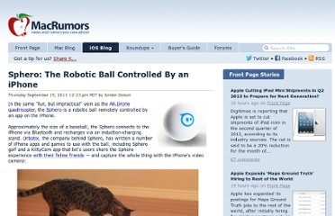 http://www.macrumors.com/2011/09/15/sphero-the-robotic-ball-controlled-by-an-iphone/