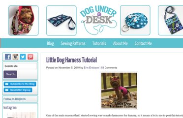 http://erinerickson.com/2010/11/little-dog-harness-tutorial/