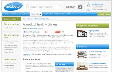 http://www.netdoctor.co.uk/dietandnutrition/dinners.htm