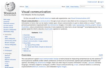 http://en.wikipedia.org/wiki/Visual_communication