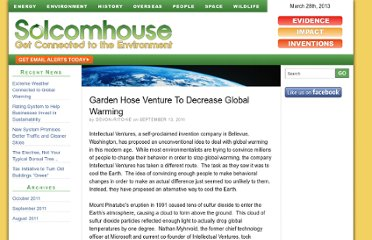 http://www.solcomhouse.com/garden-hose-venture-to-decrease-global-warming-143.htm