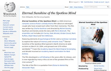 http://en.wikipedia.org/wiki/Eternal_Sunshine_of_the_Spotless_Mind