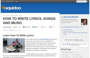 http://www.squidoo.com/how_to_write_lyrics