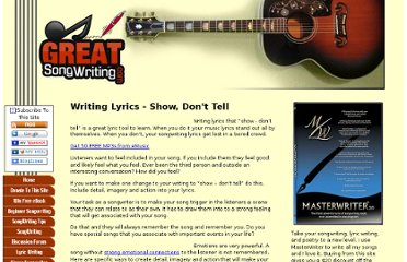 http://www.greatsongwriting.com/writing-lyrics.html