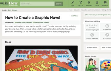 http://www.wikihow.com/Create-a-Graphic-Novel