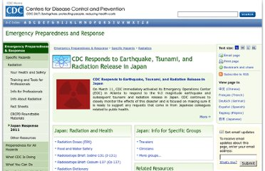http://www.bt.cdc.gov/radiation/japan2011.asp