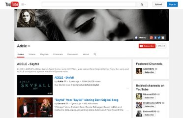 http://www.youtube.com/user/adelelondon