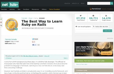 http://net.tutsplus.com/tutorials/ruby/the-best-way-to-learn-ruby-on-rails/