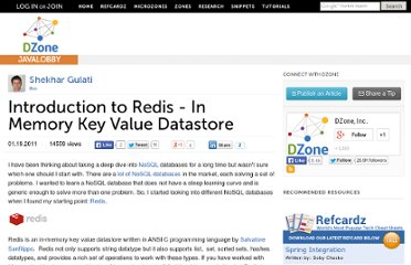 http://java.dzone.com/articles/introduction-to-redis-in-memory-key-value-datastore