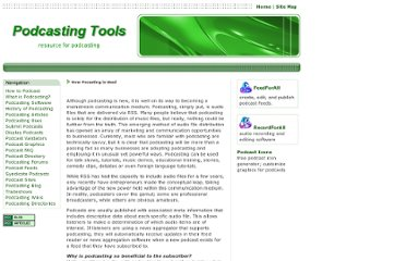 http://www.podcasting-tools.com/how-podcasting-is-used.htm