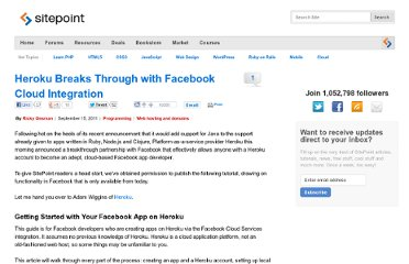 http://www.sitepoint.com/heroku-breaks-through-with-facebook-cloud-integration/