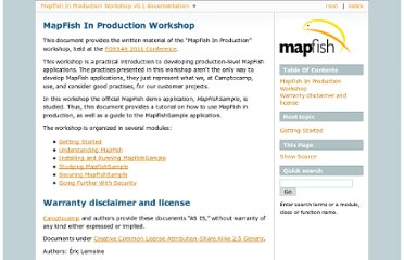 http://www.mapfish.org/doc/tutorials/mapfishsample-workshop/index.html