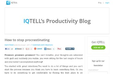 http://iqtell.com/2011/07/how-to-stop-procrastinating/