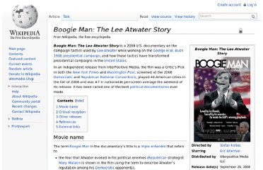 http://en.wikipedia.org/wiki/Boogie_Man:_The_Lee_Atwater_Story