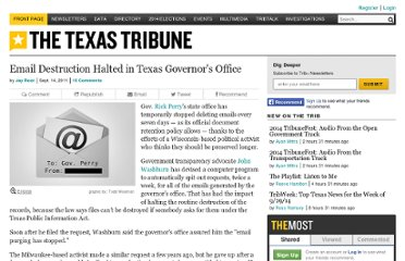 http://www.texastribune.org/texas-people/rick-perry/request-halts-email-destruction-governors-office/