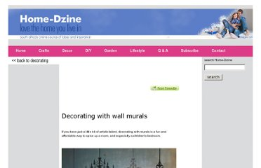 http://www.home-dzine.co.za/decorating/decorating-mural-wall.htm