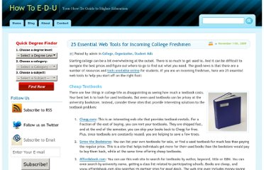 http://howtoedu.org/2009/25-essential-web-tools-for-incoming-college-freshmen/