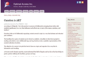 http://www.optimalaccess.com/blog/curation-art