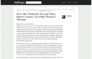 http://triplehsd.hubpages.com/hub/How-The-Nintendo-Wii-and-XBox-Kinect-Can-Help-Physical-Therapy