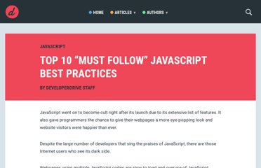 http://www.developerdrive.com/2011/08/top-10-must-follow-javascript-best-practices-2/