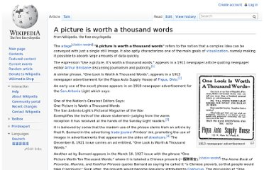 http://en.wikipedia.org/wiki/A_picture_is_worth_a_thousand_words