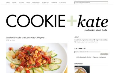 http://cookieandkate.com/2011/zucchini-noodles-with-arrabiata-chickpeas/