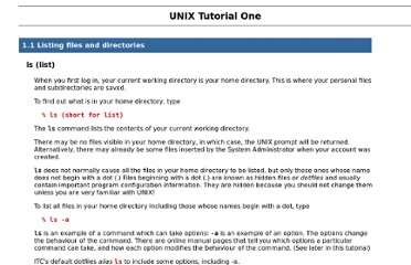 http://manuals.its.virginia.edu/unixtut/unix1.html