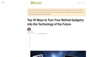 http://lifehacker.com/5841196/top-10-ways-to-turn-your-retired-gadgetry-into-the-technology-of-the-future