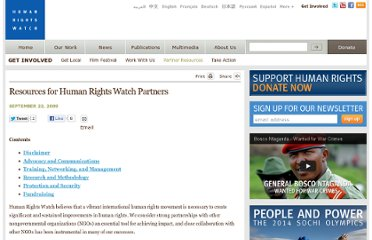 http://www.hrw.org/news/2009/09/22/resources-human-rights-watch-partners