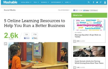 http://mashable.com/2011/09/17/online-learning-tools-business/