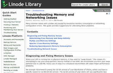 https://library.linode.com/troubleshooting/memory-networking#