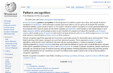 http://en.wikipedia.org/wiki/Pattern_recognition