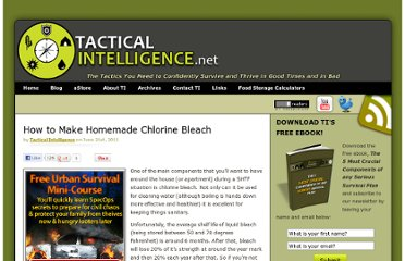 http://www.tacticalintelligence.net/blog/how-to-make-chlorine.htm