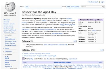 http://en.wikipedia.org/wiki/Respect_for_the_Aged_Day