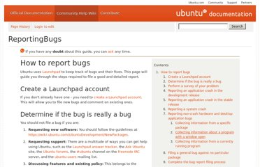 https://help.ubuntu.com/community/ReportingBugs