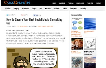 http://www.quickonlinetips.com/archives/2010/03/first-social-media-consulting-gig/