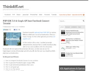 http://thinkdiff.net/facebook/php-sdk-3-0-graph-api-base-facebook-connect-tutorial/