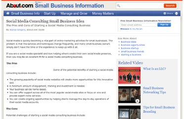 http://sbinformation.about.com/od/business-ideas/qt/Social-Media-Consulting-Small-Business-Idea.htm