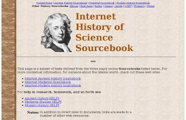 http://www.fordham.edu/halsall/science/sciencesbook.html