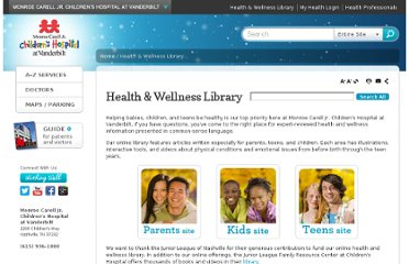 http://www.childrenshospital.vanderbilt.org/library/index.php