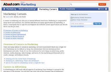 http://marketing.about.com/od/careersinmarketing/u/marketingcareers.htm#s3