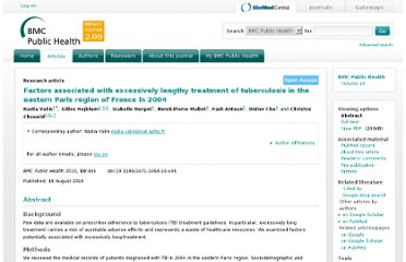 http://www.biomedcentral.com/1471-2458/10/495/abstract