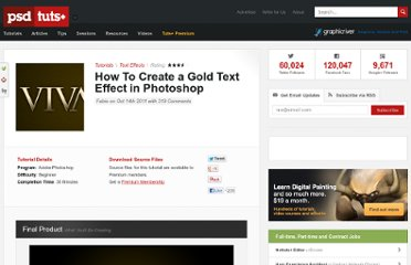http://psd.tutsplus.com/tutorials/text-effects-tutorials/gold-text-effect-photoshop/